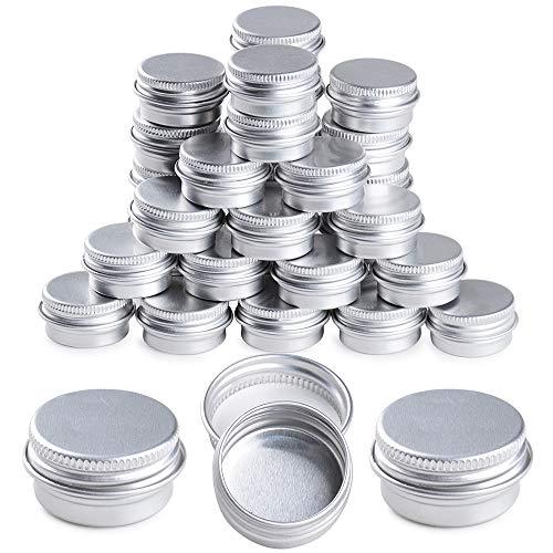 35 pcs Leere Döschen 5ml Leerdose Aluminium Tiegel MiniLeere Dosen mit Deckel Schraubverschluss
