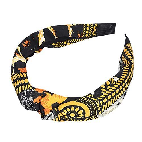 QingJiu diadema elástica para yoga, con diseño de leopardo, para mujer, turbante, anudado, diadema, accesorio para el pelo para niñas J Free