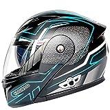Allround Helmets Bluetooth Casco Moto Modular Motocicleta Integrada,Casco De Motocicleta Multifuncional Certificación Dot/ECE 22.05 Casco Modular Bluetooth Incorporado con Doble Vise F,M