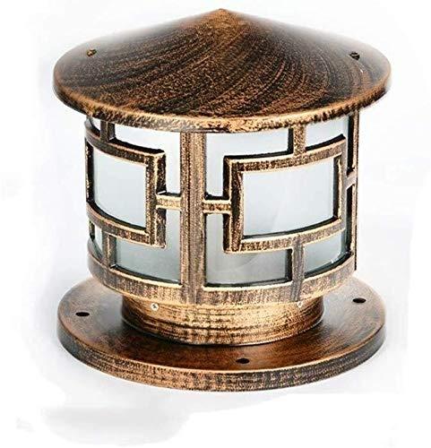 Wandstaal Traditionele retro buitenpillar lampen industriële bijdrage lampen elegant design geproduceerd uit aluminium gegoten roest aluminium, glas 28 * 30 cm wandverlichting