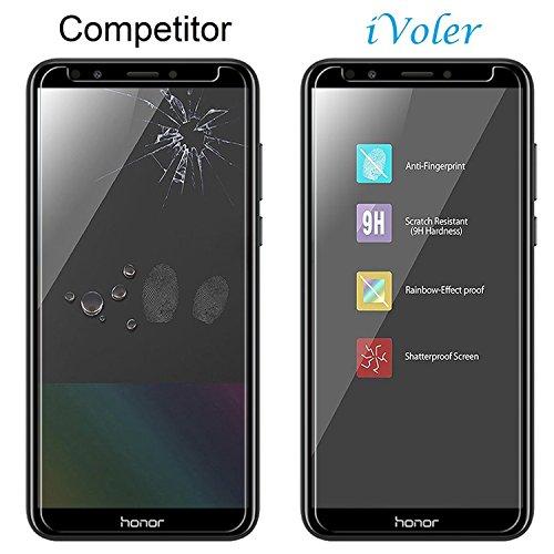 ivoler [3 Stücke] Panzerglas Schutzfolie für Huawei Honor 7C / Huawei Y7 2018 / Huawei Y7 Prime 2018 / Huawei Y7 Pro 2018, 9H Härte, Anti- Kratzer, Bläschenfrei, [2.5D Runde Kante] - 6