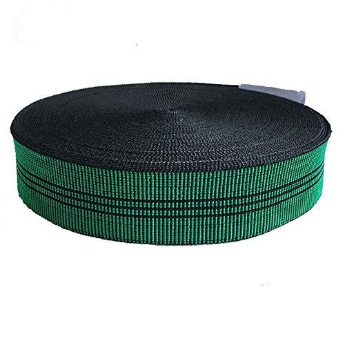 Cincha de tapicería elástica de 80 mm, correas de calidad para asientos de sofás, 12 metros