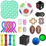PATISZON 23 Stück Fidget Sensory Toy Set, Sensory Zappeln Anti Stress Spielzeug, Angst Relief Finger Toys für Kinder