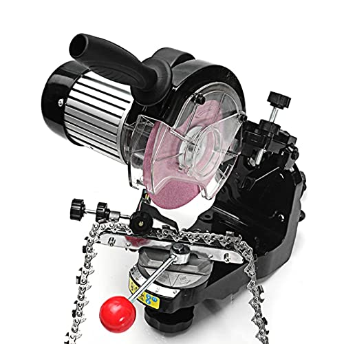 Chainsaw Sharpener, Professional Electric Multi-Angles Automatic Saw Chain Blade Grinder Sharpener Machine, 1/8-Inch-by-3/16-Inch
