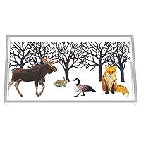 Paperproducts Design 32020 木製化粧台トレイ 冬用 ソルスティスデザイン 12.25 x 7 x 1.5インチ ホワイト/ブラウン