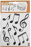 Plage 156004 Adhesivos de decoración-Notas de música 2 Hojas, 18,5 x 15 cm