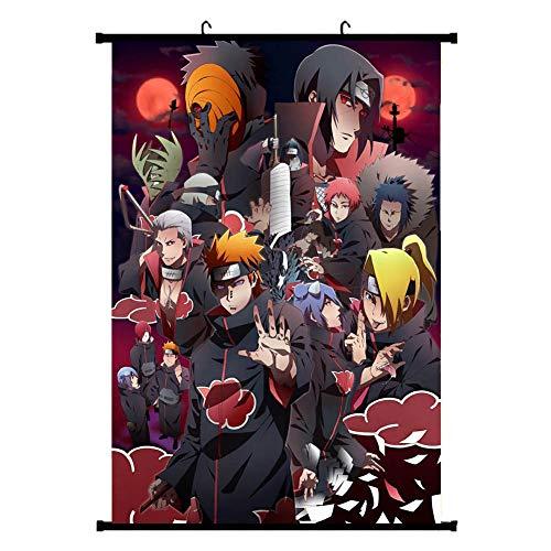 CAR-TOBBY Anime Naruto Shippuden Poster Manga Wall Posters Decoración para el hogar(H04-1)