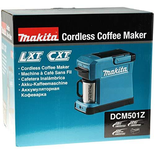 Makita Original Akku-Kaffeemaschine DCM501Z 18V (ohne Akku, ohne Ladegerät)