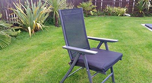 HomeZone® 50 cm x 45 cm résistant à l'eau Fauteuil de luxe et meubles de terrasse rembourré Coussin meubles de jardin Pad carré intérieur/extérieur (1, Noir)