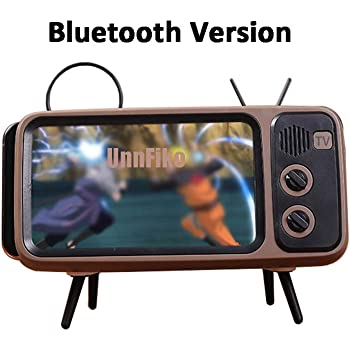 Amazon Com Retro Tv Bluetooth Speaker V4 2 Vintage Wireless Radio Aux Fm Bluetooth Optional 3d Stereo Sound Quality Portable Loudspeaker With Tf Card Slot Also Cell Phone Holder Art Decoration Silver Grey Home