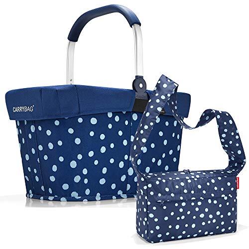 reisenthel Einkaufskorb carrybag plus cover plus case 2 Einkaufskorb Einkaufstasche Einkaufsset (spots navy)