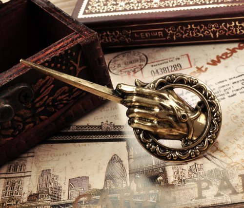 SASAMALL Pop Song of Ice and Fire Antique Bronze Hand of the King Metal Pin: Game of Thrones
