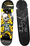 The Simpsons- Skateboard Apprentissage Bart, 808735, Jaune et Noir