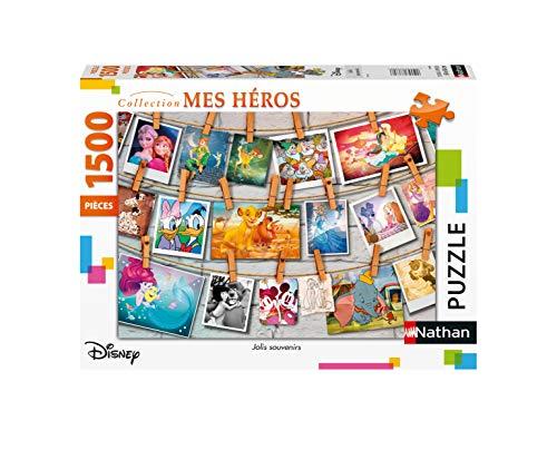 Nathan 4005556877980 Puzzle 1500 pièces Souvenirs d'enfance Disney All Other Erw...