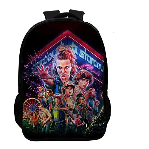 Amke Printed Backpacks Student School Bag Laptop Backpack with USB Charging Port