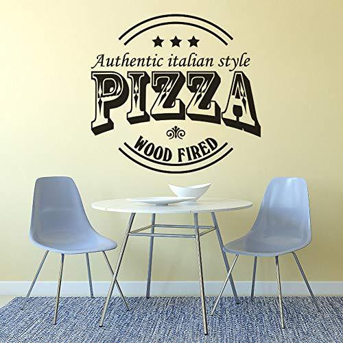 Pizzeria Logo ventana cartel pared arte pegatina restaurante Pizza pared calcomanía extraíble cartel pared pegatina A7 57x54cm