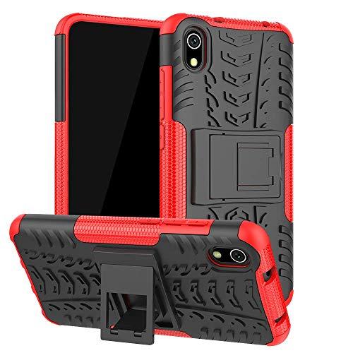 Capa Capinha Anti Impacto Para Xiaomi Redmi 7a Tela 5.45Case Armadura Hybrid Reforçada Com Desenho De Pneu - Danet (Vermelha)