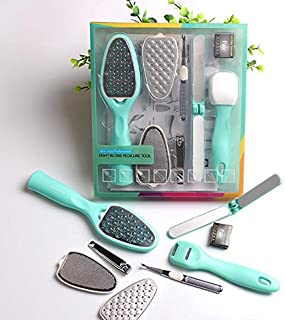 8 in 1 Removable Pedicure Feet Rasps Callus Shaver Remover Replaceable Foot File Hard Dead Skin Trimmer Tools Manicure Sets 8 in 1 フィート胼胝と硬い死んだ肌を外す?剃る用フィートペディキュア?マニキュアツールセット