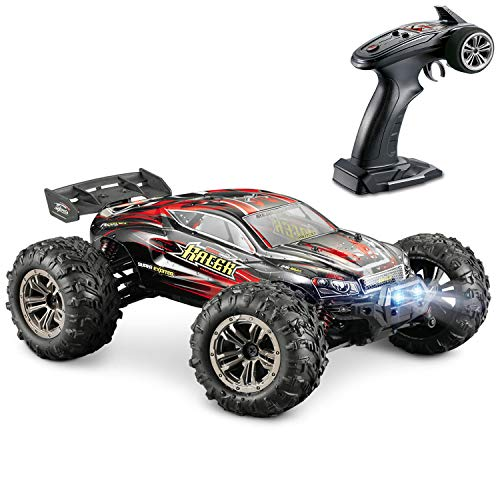 Hosim High Speed 36km / h 4WD 2.4Ghz Remote Control Truck 9138, Scala 1:16 Radio Conrtolled Offroad RC Car Electronic Monster Truck R / C RTR Hobby Cross-Country Car Buggy (Rosso)