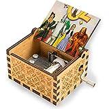 The Wizard Of Oz - Caja de música de madera con manivela tallada para regalo de cumpleaños de juguetes manuales para niños y niñas