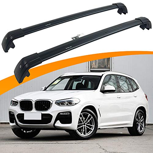 SnailAuto Fit for BMW X3 G01 2018 2019 2020 Lockable Crossbars Roof Rack Luggage Rack