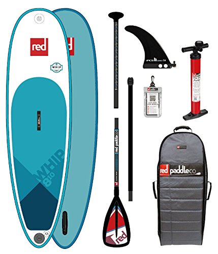 Red Paddle Co 2018 Whip 8'10 Inflatable Stand Up Paddle Board +...