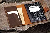 Personalized leather composition notebook book cover case/vintage rustic leather cover portfolio for composition notebook NB505CPS