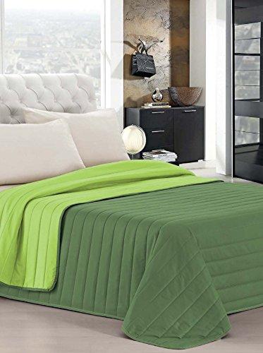 Elegant Ropa DE Cama Italiano Colcha Verano Verde Individuales 170 x 270 cm