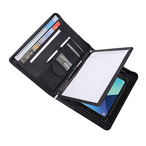 iCarryAlls Portfólio organizador executivo para Galaxy Tab S4/Galaxy Tab S5e/Galaxy Tab S6 10.5 e A4, preto (150307PJJ-SGT-S4-Preto)