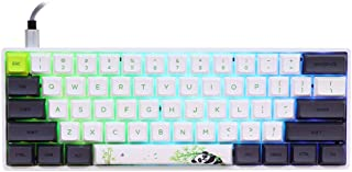 EPOMAKER SKYLOONG SK61 61 Keys Hot Swappable Mechanical Keyboard with RGB Backlit, NKRO, Water-Resistant, Type-C Cable for Win/Mac/Gaming (Gateron Optical Blue, Panda)