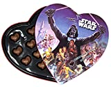 Star Wars Valentines Day Heart Box with Milk Chocolate Caramel Filled Hearts, 4.94 Ounce