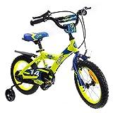 Cyfie 鷹さん 子供用自転車 泥除け付き 補助輪付き 滑り止めハンドル付き 簡単に安装...