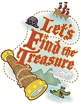 6 Inch Let's Find Treasure Decal Jake and The Neverland Pirates Repositionable Removable Peel Self Stick Wall Sticker Art Home Decor (Decoration for Walls Laptop Yeti Tumbler) 5 by 6 inch