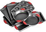 Elite Bakeware 8 Piece Ultra NonStick Baking Pans Set - Bakeware Set - Cookware Set