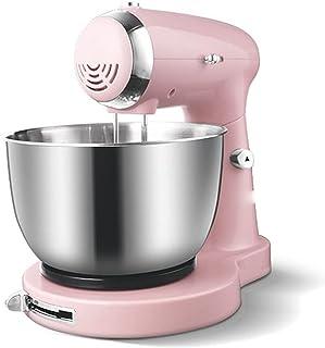 Matberedare knådmaskin rostfritt stål skål 5-växlad köksmixer grädde ägg visp tårta deg knådning, rosa