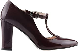 Ayakland 137029-343 8,5 Cm Topuk Bayan Rugan Sandalet Ayakkabı BORDO