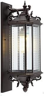 MiOeiy Outdoor Waterproof Wall Lamp Lantern Luxury Vintage Aluminum Retro Wall Sconce Lighting E27 Edison Decoration External Upscale Villa Courtyard Patio Doorway Wall Light Fixture