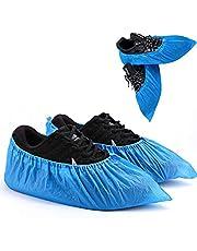 LEOUNA Cubrezapatos Desechables Non-woven 400g 100 Pcs(50 pares)para Medical Hospital Home Laboratorio Industria Protección personal Reciclable-Azul