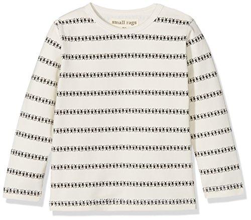 Small Rags Small Rags Baby Unisex Langarm Shirt, Mit Aufdruck, Größe: 56, Farbe: Weiß, 41612