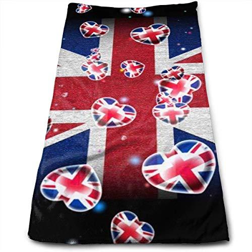 Bandera de Inglaterra Toalla de Mano Toallas de Lujo Ultra Suaves para baño, Hotel, Gimnasio y SPA 30x70cm