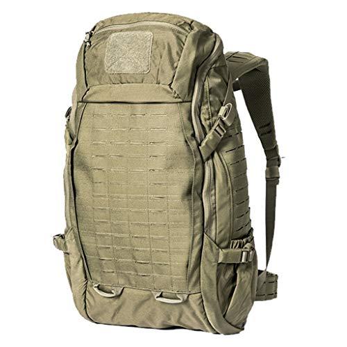 ZWW Mochila táctica Militar de 40 litros, Resistente al Desgaste y Repelente al Agua Que acampa al Aire Libre de montañismo Mochila (Color : Sneak Green)