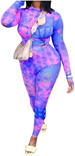 Comaba Women's Long Sleeve 2 Piece Set Patterned Leisure Activewear