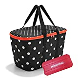 reisenthel coolerbag mit Kühlakku - isolierte Kühltasche, faltbar, robust, mit Reißverschluss - 44,5 x 24,5 x 25 cm, Volumen: 20l - Exklusives Set, Mixed dots (7051)
