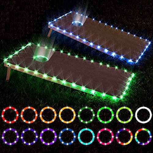 LED Cornhole Lights remote control Cornhole Board Edge and Ring LED Lights 16 Color change by product image