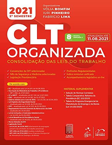 CLT organizada - Consolidação das Leis de Trabalho
