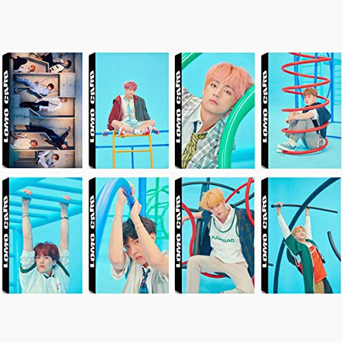 8 Pack/240 Pcs BTS Lomo Card KPOP Bangtan Boys Photocards Love Yourself Answer Greeting Card with Postcards Box