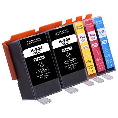 Aibecy Cartuchos de tinta compatibles de repuesto para HP 934935 XL 934XL 935XL Compatible con HP Officejet Pro 6230 6830 6835 Impresora HP Officejet 6220 6812 6815 6820, paquete de 5