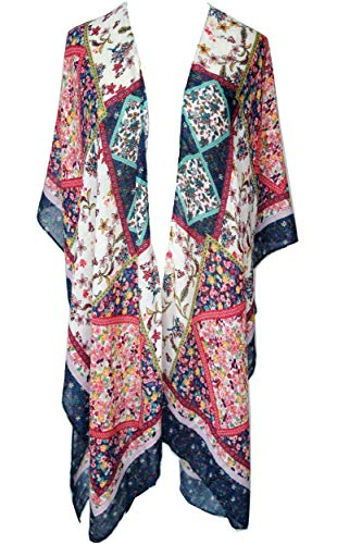 Women Elegant Shawl Wrap Sweater Cardigan Coat Open Front Oversized Blanket Poncho Cape for Spring Summer Autumn (Navy)