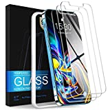 Caefax Screen Protector Compatible with iPhone 12 / iPhone 12 Pro 6.1 Inch, Case Friendly Tempered Glass Film 9H Hardness 2.5D Film with Easy Installation Kit, 3-Pack