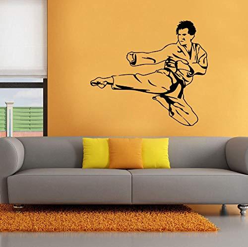 Karate kicker etiqueta de la pared decoración de la casa vinilo desmontable niño gimnasio decoración sticker-68x108cm